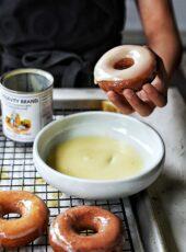 Mochi Donut + Sweetened Condensed Milk Glaze