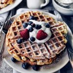 Buttermilk Waffles Recipe + Black Sesame Whip
